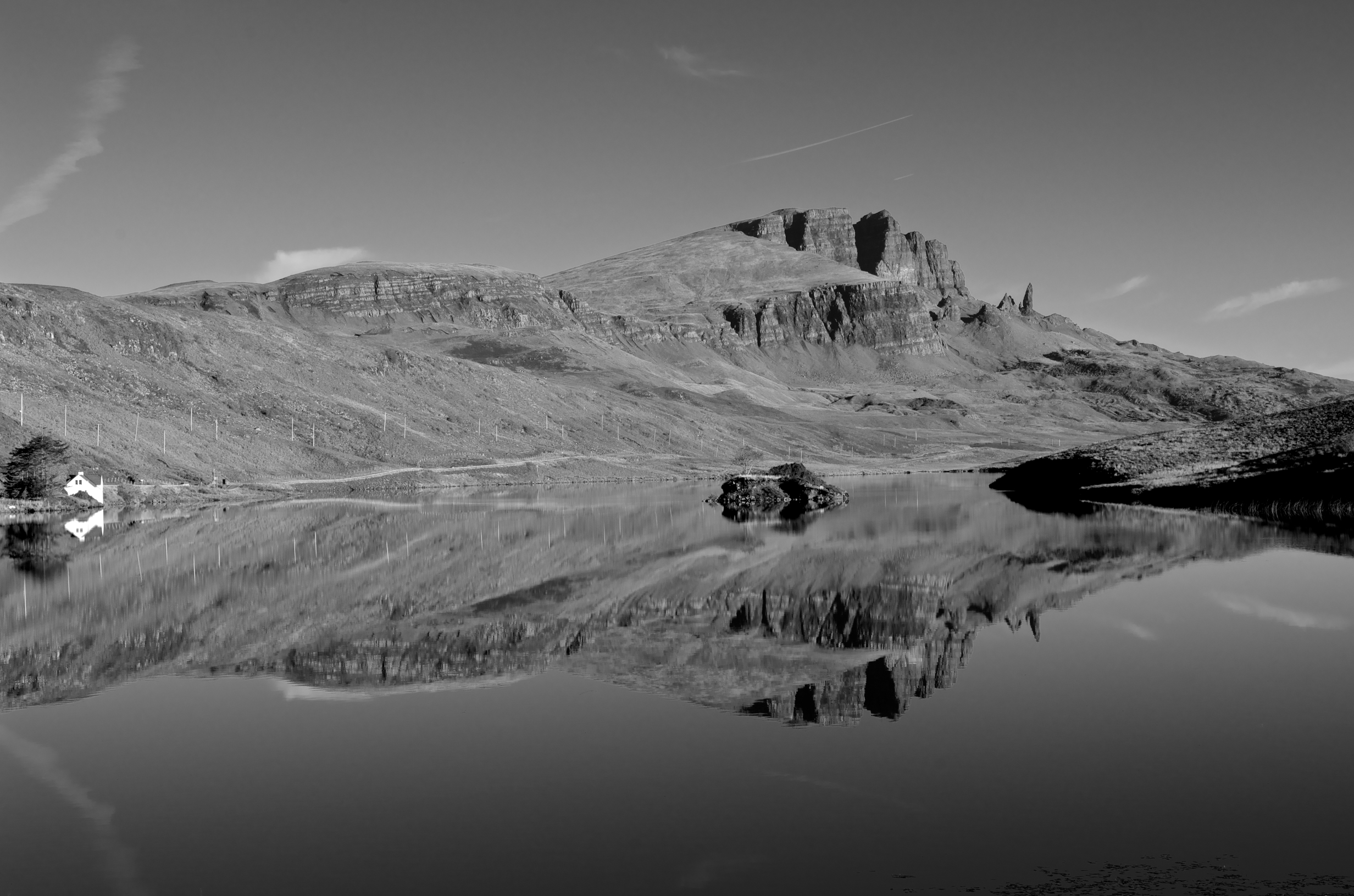 Storr Reflections B&W